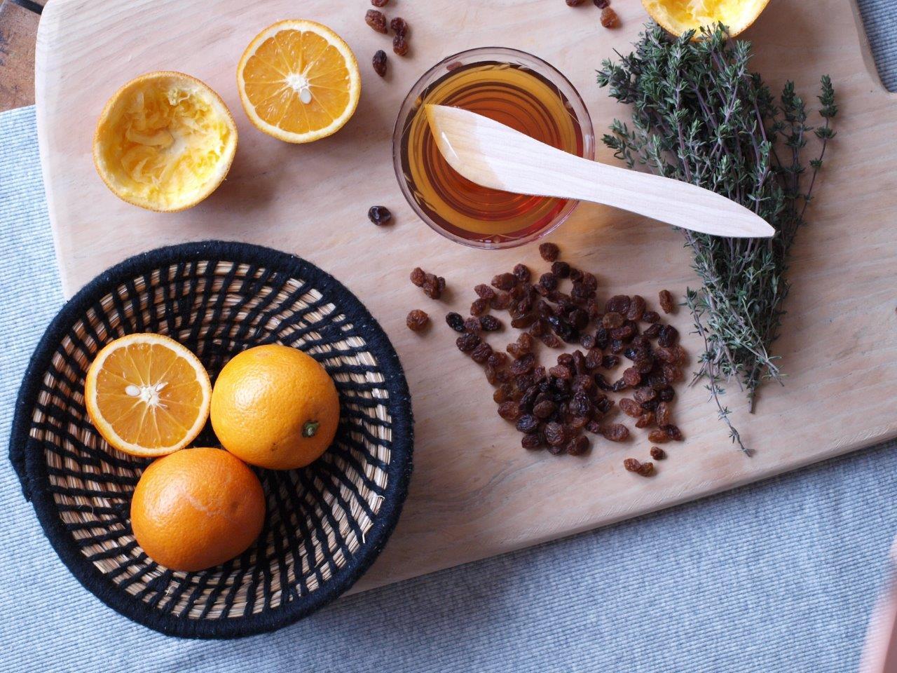 salade d'oranges - ingrédients